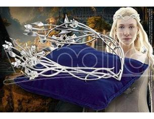 Diadema Corona Dama Bianca Elfica Galadriel Lo Hobbit Noble Collection
