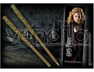 Penna e Segnalibro Bacchetta Hermione Granger Harry Potter Noble Collection