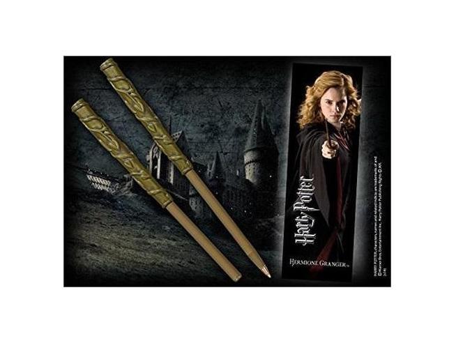 Penna e Segnalibro Bacchetta Hermione Granger Harry Potter Noble Collection
