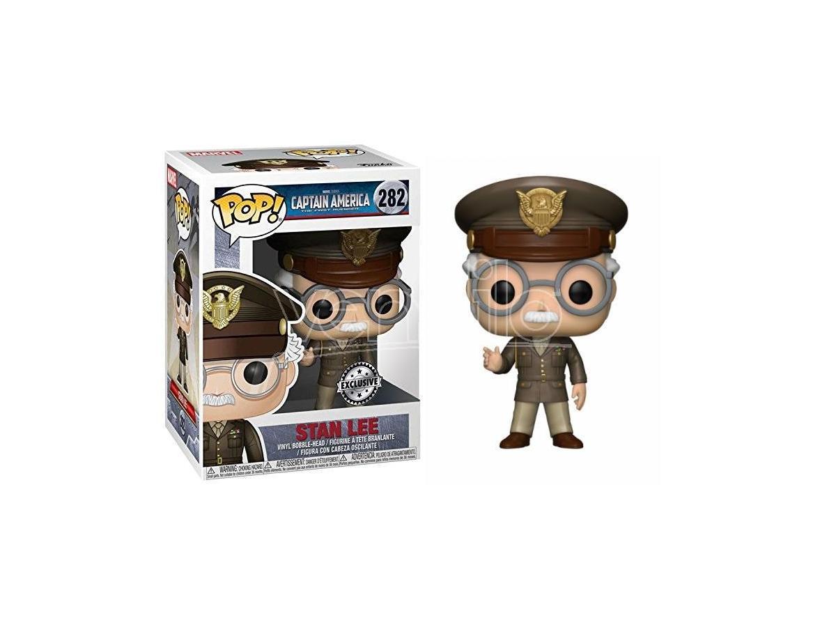 Funko POP Vinile Figura Stan Lee Cameo Generale Esercito 9 cm Esclusiva
