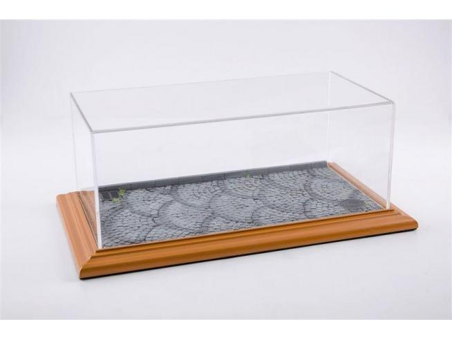 ATLANTIC-CASE ATL30101 STONE STREET DIORAMA CHERRY WOOD HAND MADE mm 325x165x125 1:18/1:24 Modellino