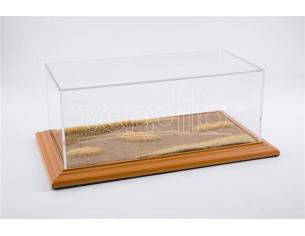 ATLANTIC-CASE ATL30102 DESERT ROAD DIORAMA CHERRY WOOD HAND MADE mm 325x165x125 1:18/1:24 Modellino