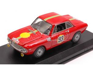 Best Model BT9654 LANCIA FULVIA COUPE' 1300 HF N.93 2nd T.DE CORSE 1967 TOIVONEN-TIUKKANEN Modellino