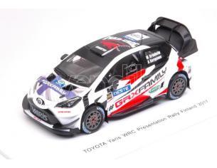 Spark Model S5170 TOYOTA YARIS WRC PRESENTATION N.VIP RALLY FINLAND 2017 GRONHOLM-KARPPAN. Modellino
