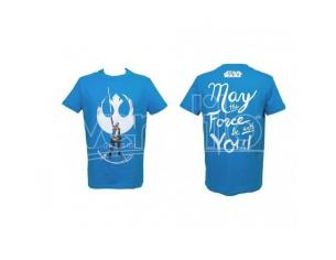 SD TOYS T-SHIRT SW EP VIII REY LIGHT SIDE BLUE BOY TAGLIA S T-SHIRT