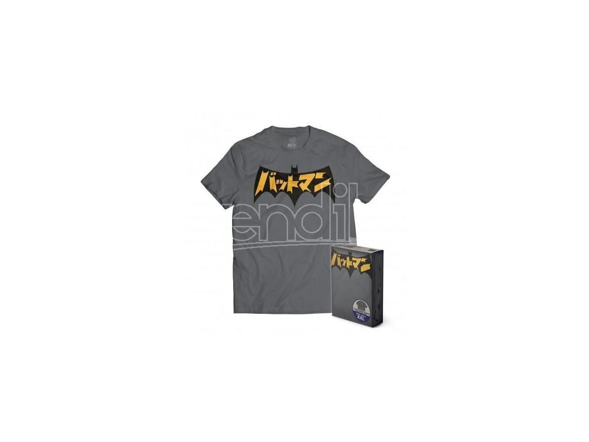 SD TOYS T-SHIRT DC BATMAN JAPANESE LOGO GREY TAGLIA M T-SHIRT
