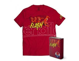 SD TOYS T-SHIRT DC FLASH THE CRIMSON COMET RED TAGLIA L T-SHIRT