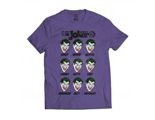 SD TOYS T-SHIRT DC THE JOKER MOODS PURPLE TAGLIA L T-SHIRT