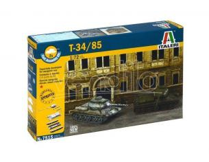 Italeri IT7515 T-34/85 RUSSIAN TANK KIT 1:72 Modellino