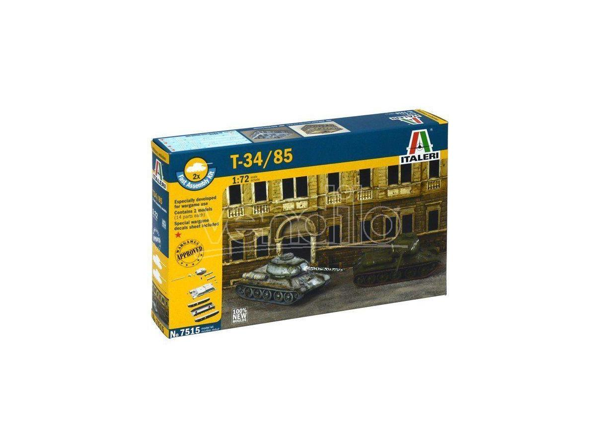 Italeri IT7515 T-34/85 RUSSIAN TANK KIT 1:72 Modellino
