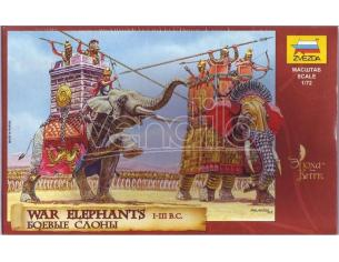 Zvezda Z8011 WAR ELEPHANTS SOLDATINI KIT 1:72 Modellino