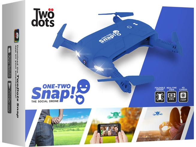 TWO DOTS SNAP THE SOCIAL DRONE BLU DRONI CONSUMER
