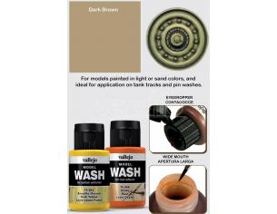 VALLEJO MODEL WASH DARK BROWN 76514 COLORI