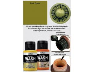 VALLEJO MODEL WASH DARK GREEN 76512 COLORI