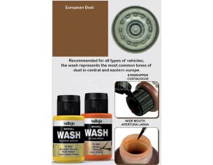 VALLEJO MODEL WASH EUROPEAN DUST 76523 COLORI