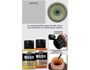 VALLEJO MODEL WASH LIGHT GREY 76515 COLORI