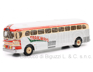IXO MODEL BUS015 GMC PD 3751 TRAILWAYS 1955 1:43 Modellino