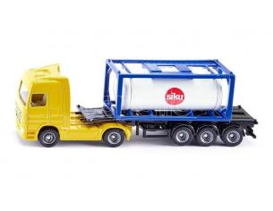 Sky Marks SK1795 CAMION W/TANK CONTAINER 1:87 Modellino