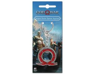 GAYA ENTERTAINMENT GOD OF WAR SERPENT LOGO KEYCHAIN PORTACHIAVI