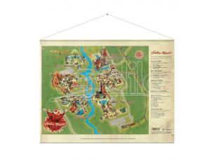 GAYA ENTERTAINMENT FALLOUT NUKA WORLD MAP WALLSCROLL POSTER