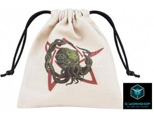 Q WORKSHOP CTHULHU IMAGE BEIGE DICE BAG ACCESSORI