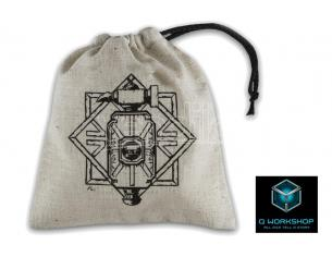 Q WORKSHOP DWARVEN BEIGE DICE BAG ACCESSORI