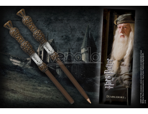 Penna e Segnalibro Bacchetta Albus Silente Harry Potter Noble Collection
