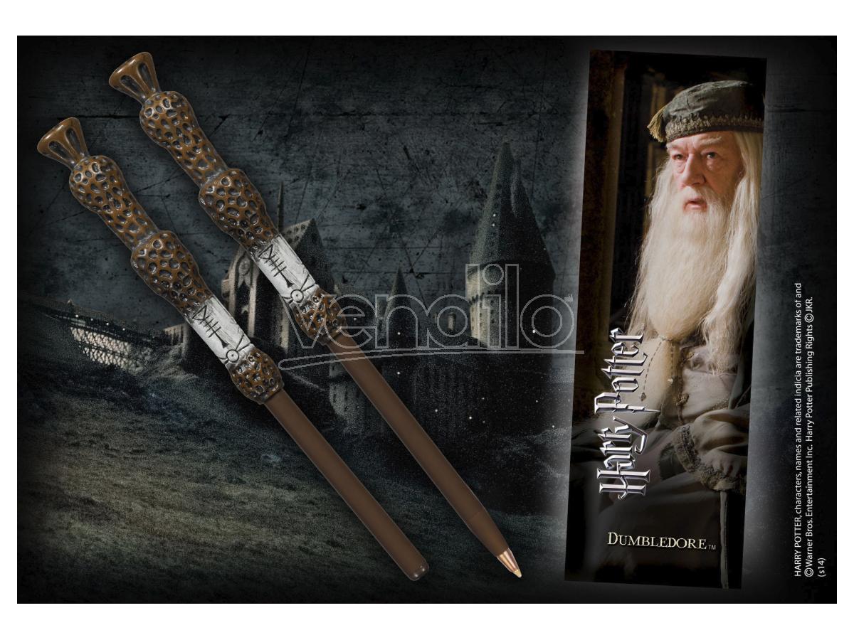 Penna e Segnalibro Bacchetta Albus Silente Harry Potter Noble Collection