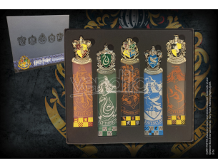 Set 5 Segnalibri con tutte le Casate di Hogwarts Harry Potter Noble Collection