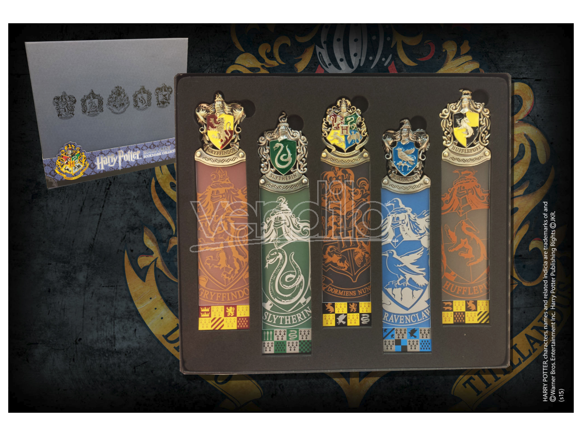 Set di 5 Segnalibri con tutte le Casate di Hogwarts Harry Potter Noble Collection