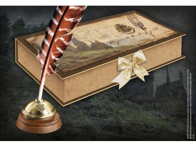 Harry Potter  Penna Piuma E Calamaio Hogwarts Replica  Noble Collection