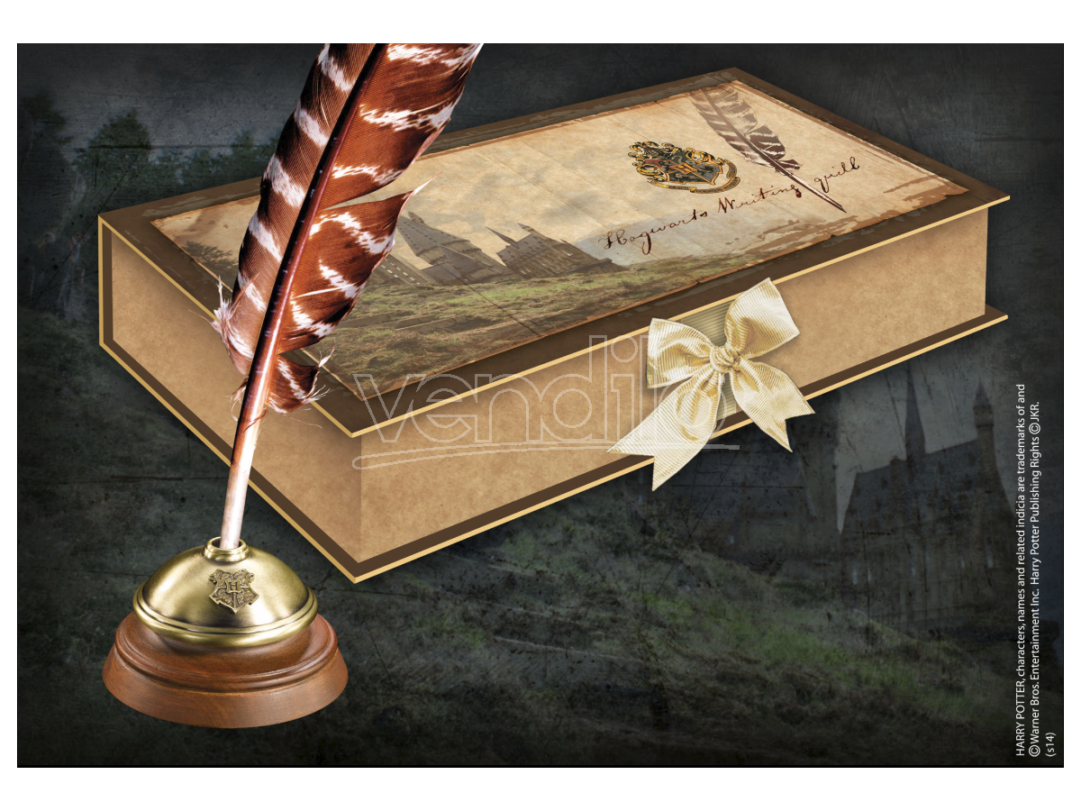 Penna Piuma e Calamaio Hogwarts Replica Harry Potter Noble Collection