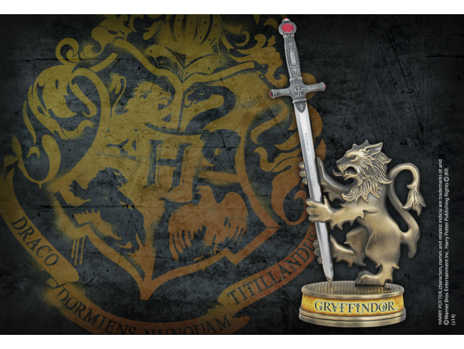 Harry Potter  Tagliacarte Con Supporto Statuetta Grifondoro  21cm Noble Collection