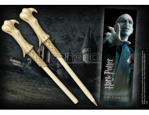 Penna e Segnalibro Bacchetta Lord Voldemort Harry Potter Noble Collection