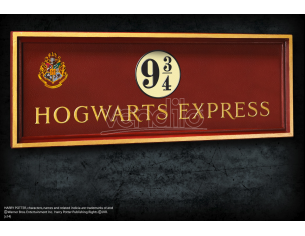 Placca Murale Binario 9 e 3/4 Espresso Hogwarts Harry Potter 56x20 cm Noble