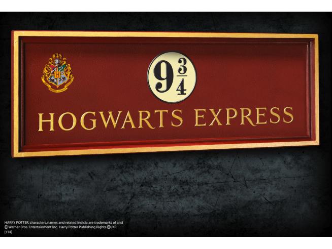 Placca Murale Binario 9 e 3/4 Espresso Hogwarts Harry Potter 56x20 cm Noble