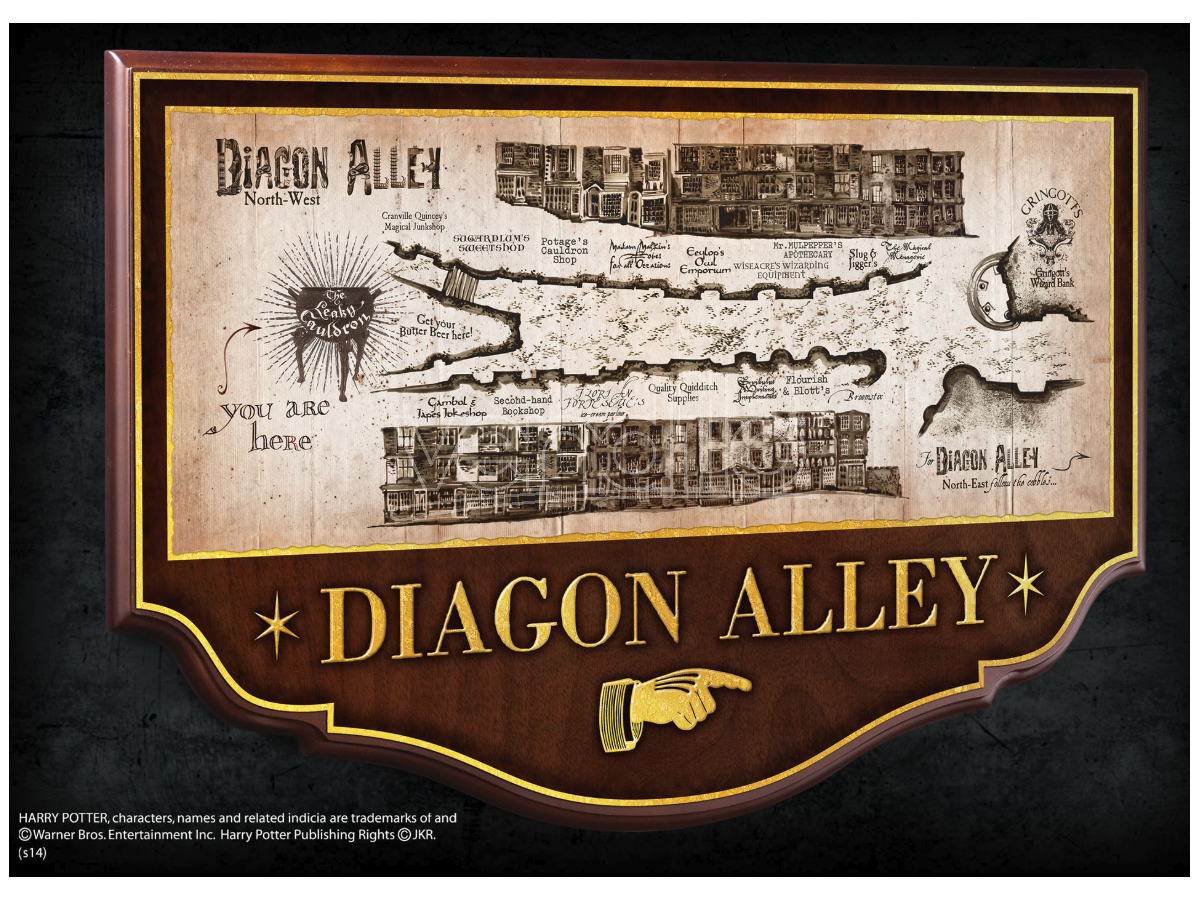 Insegna / Placca Muro Diagon Alley Harry Potter 45 cm Noble Collection