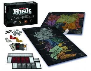 Gioco Tavolo Risiko Game of Thrones DELUXE 2 Mappe Inglese SCATOLA ROVINATA