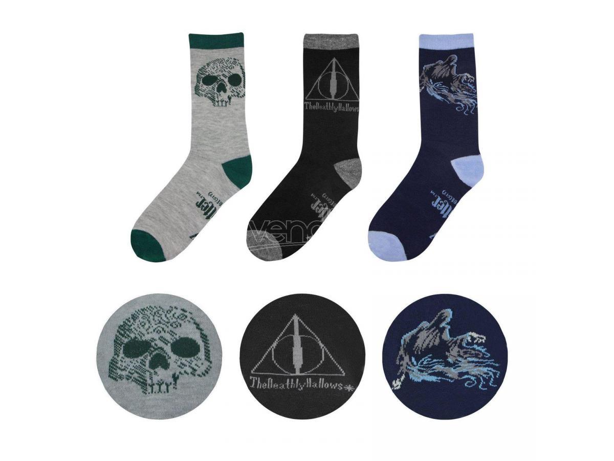 Set 3 Calzini I Doni della Morte Harry Potter EU 37 - 46 Ufficiale Cinereplicas