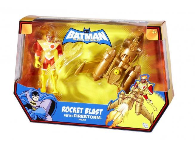 Batman T1586 - Rocket Blast Firestorm Figura Playset Scatola Rovinata