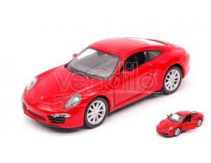 Welly WE38513M PORSCHE 911 (991) CARRERA S RED cm 11 Modellino