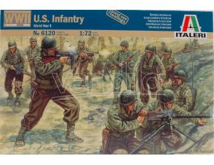 Italeri IT6120 WWII FANTERIA AMERICANA KIT 1:72 Modellino