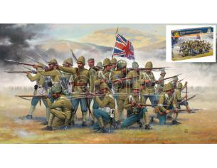Italeri IT6187 BRITISH INFANTRY/SEPOYS (COLON.WARS) KIT 1:72 Modellino