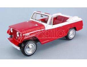 BOS MODEL BOS340 JEEP JEEPSTER COMMANDO CONVERTIBLE RED/WHITE 1:18 Modellino