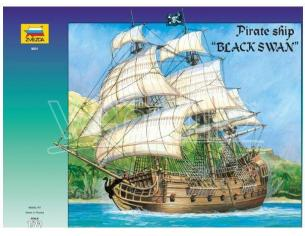 Zvezda Z9031 PIRATE SHIP BLACK SWAN KIT 1:72 Modellino