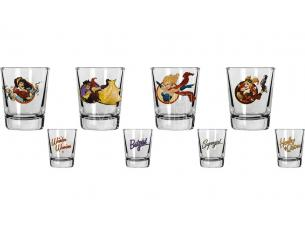 SD TOYS DC BOMBSHELLS MINI GLASSES SET (4) BICCHIERI