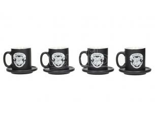 SD TOYS HP EMBLEMS ESPRESSO CERAMIC MUG SET (4) TAZZA