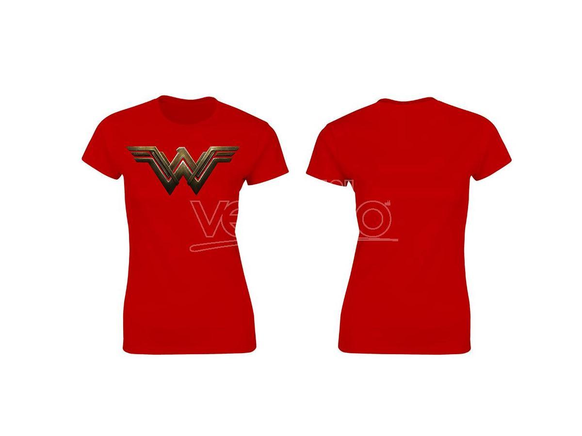 SD TOYS T-SHIRT BVS WONDER WOMAN LOGO RED WOMEN TAGLIA S T-SHIRT