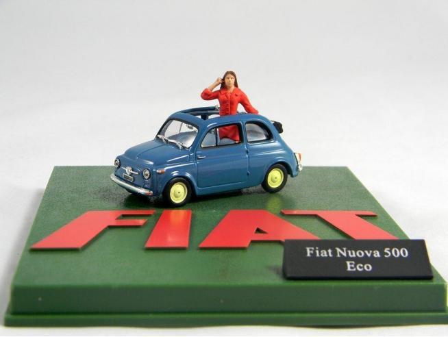 500 003 FIAT NUOVA 500 ECO 1/43 + FIGURA Modellino
