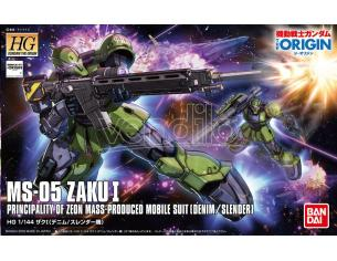 BANDAI MODEL KIT HG ZAKU I DENIM SLENDER ORIGIN 1/144 MODEL KIT